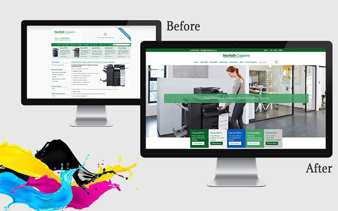 Cost-Effective eCommerce-Ready Website for Norfolk Copiers