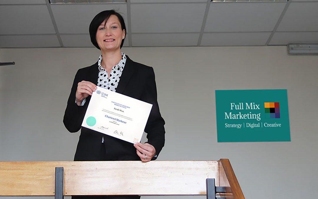 Sarah Celebrates 11th Year as CIM Chartered Marketer