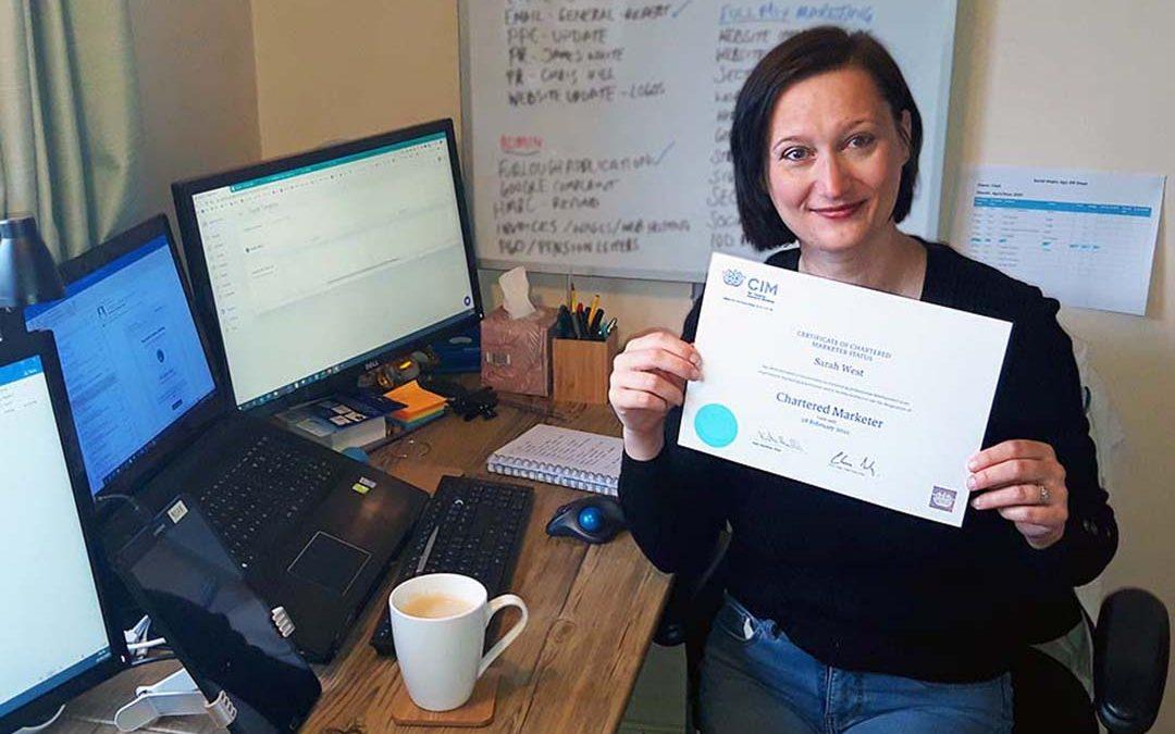 Sarah Celebrates 12th Successive Year as CIM Chartered Marketer