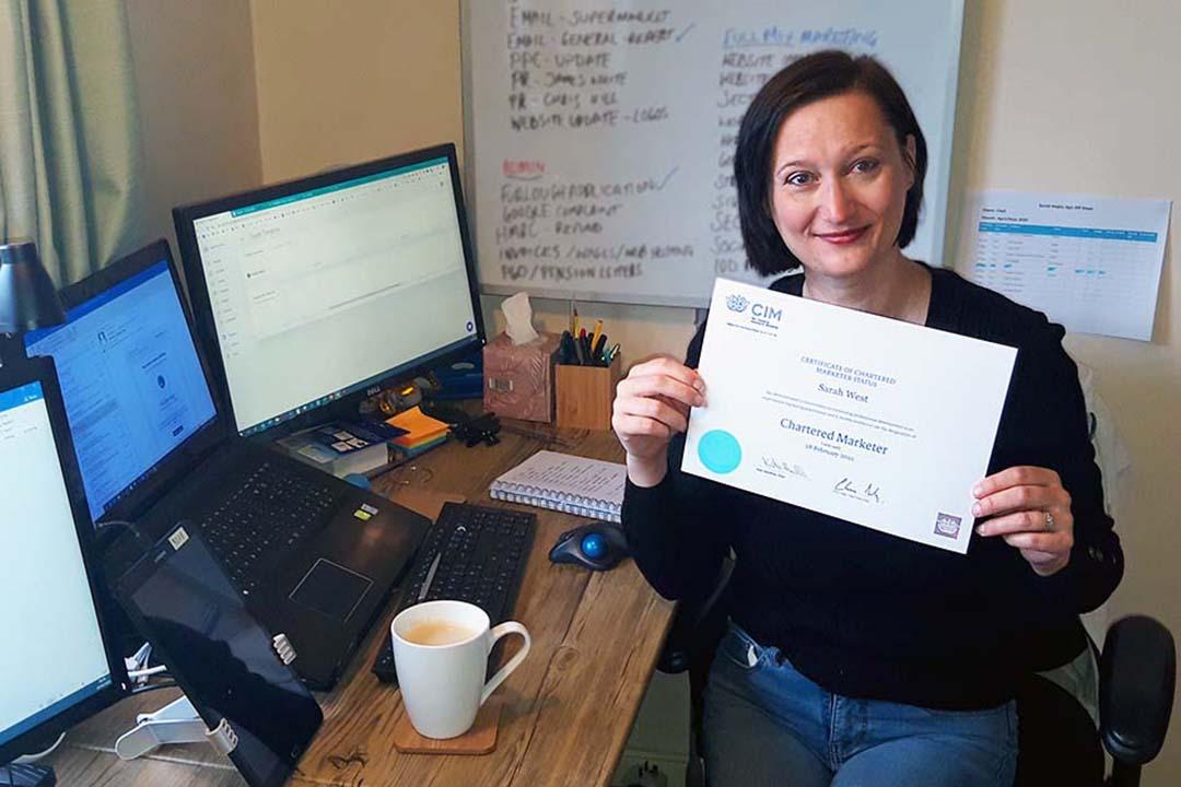 Sarah West Celebrates 12 Years CIM Chartered