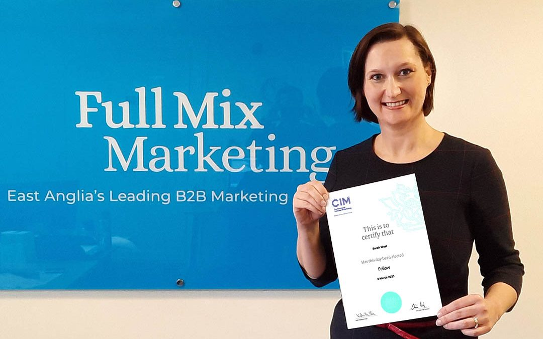 Managing Director Sarah Becomes Fellow of Chartered Institute of Marketing
